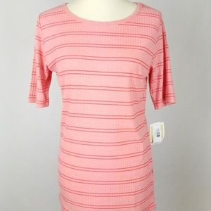 LuLaRoe Gigi Top Ribbed Pink Striped